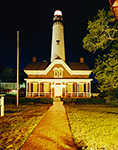 St. Simons Island Light Station at Night, St. Simons Island, GA
