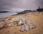 Sand, Stone and Stormy Sky, Reid State Park, Georgetown Island, Georgetown, ME