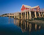 Pilings and Wharf House, Orrs Island, ME