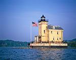 Rondout (Kingston) Lighthouse at Rondout Creek and Hudson River, Hudson River Valley, Ulster County, Kingston, NY