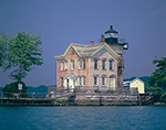 Saugerties Lighthouse at Esopus Creek and Hudson River, Hudson River Valley, Ulster County, Saugerties, NY