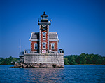 Hudson-Athens Lighthouse at Middle Ground Flats on Hudson River, Hudson River Valley, Greene County, Athens, NY