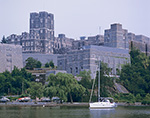 View of West Point Military Academy from Hudson River, West Point, Orange County, Highland, NY