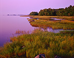 Predawn Light over Salt Marshes on Maquoit Bay Looking Over to Bunganuc Point, Casco Bay Region, Brunswick, ME