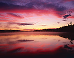 Predawn Light with Cloud Reflections in Forked Lake, High Peaks Area, Adirondack Park, Long Lake, NY