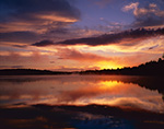 Sunrise with Cloud Reflections in Forked Lake, High Peaks Area, Adirondack Park, Long Lake, NY