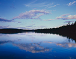 Evening Clouds Reflecting in Still Water of Forked Lake, High Peaks Area, Adirondack Park, Long Lake, NY