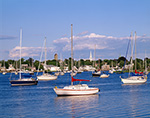 Sailboats, Barrington River, Barrington, RI 