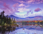 Mt. Katahdin and Sandy Stream Pond with Early Morning Clouds, Baxter State Park, ME