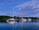 Boats in Hadley Harbor, Elizabeth Islands, Town of Gosnold, MA