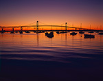 Sunrise, Jamestown Harbor and Newport Bridge,  Jamestown, RI