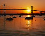 Morning Sun, Jamestown Harbor and Newport Bridge,  Jamestown, RI