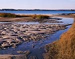 Sandbars and Tidal Creek along Rappahannock River, Chesapeake Bay, Middlesex County, Wake, VA
