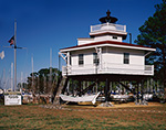 Full-scale Replica of Stingray Point Lighthouse, Stingray Point Marina at Rappahannock River and Chesapeake Bay, Middlesex County, Stingray Point, VA