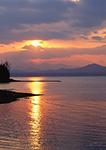 Sunset from Town Beach on Lake Champlain, Charlotte, VT