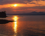 Sunset at Town Beach on the Shores of Lake Champlain, Charlotte, VT