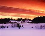 Red Sky Morning over Hyridge Farm, Winchendon, MA