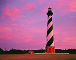 Sunset at Cape Hatteras Lighthouse, Cape Hatteras National Seashore, Outer Banks, NC