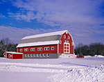 Red Barn after Snowstorm, Belchertown, MA