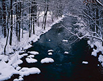 Sawmill River after Fresh Snowfall, Pioneer Valley, Montague, MA