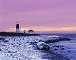 Winter Morning at Point Judith Light, Narragansett, RI