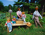 Scarecrow Family and Garden, Royalston, MA