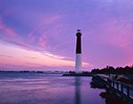 Barnegat Lighthouse at Sunrise, National Register of Historic Places,  Barnegat Lighthouse State Park, Barnegat Light, NJ