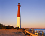 Early Morning Light on Barnegat Lighthouse, National Register of Historic Places, Barnegat Lighthouse State Park,  Barnegat Light, NJ