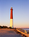 Early Morning LIght on Barnegat Lighthouse, National Register of Historic Places, Barnegat Lighthouse State Park,  Barnegat Light, NJ