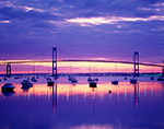 Sunrise, Jamestown Harbor and Newport Bridge,  Jamestown, RI