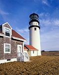 Close-up View of Highland Light (Cape Cod Light), Cape Cod National Seashore, Cape Cod, Truro, MA
