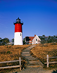 Nauset Light with Walkway and Fence, Cape Cod National Seashore, Cape Cod, Eastham, MA