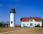 Chatham Light under Sunny, Blue Skies, Cape Cod, Chatham, MA