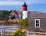 Nauset Light with Outlying Buildings, Cape Cod National Seashore, Cape Cod, Eastham, MA