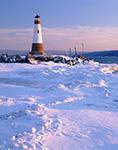 Myers Point Lighthouse, Cayuga Lake, Myers Park, Finger Lakes Region, Lansing, New York