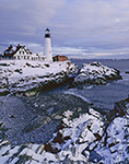 Portland Head Light in Winter, Cape Elizabeth, ME