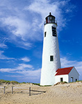 Beautiful Clouds on Summer Day at Great Point Light, Nantucket National Wildlife Refuge, Nantucket, MA