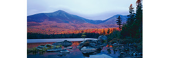 Early Light, Mt. Katahdin at Sandy Stream Pond in Fall, Baxter State Park, ME
