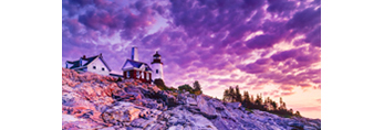 Pemaquid Point Lighthouse and Ledges at Sunrise, Pemaquid Point, Bristol, ME
