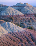 Colorful Clay and Soils of Buttes in Badlands National Park, SD