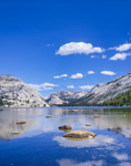 Tenaya Lake with Surrounding Mountain Domes, Yosemite National Park, CA