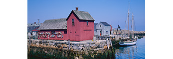 Motif #1 with Clear Skies, Rockport Harbor, Rockport, Massachusetts