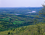 View from Top of Skinner Mountain of Connecticut River and Valley in Spring, J. A. Skinner State Park, Hadley, MA