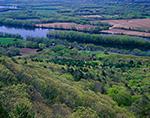 View from Top of Skinner Mountain of Connecticut River and Valley Farmland in Spring, J. A. Skinner State Park, Hadley, MA