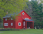 Red Barn with White Trim in Spring, New Salem, MA