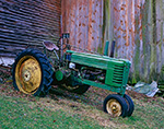 Old John Deere Model B Tractor, Orange, MA
