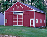 Red Barn with White Trim at New Salem Historical Society, New Salem, MA