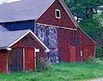 Side View of Old Red Barns, Connecticut River Valley, Deerfield, MA
