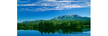 Mt. Katahdin and Penobscot river with Knife's Edge, Baxter State Park, ME