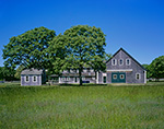 Cedar-shingled Barns at Martha's Vineyard Agricultural Society, Martha's Vineyard, West Tisbury, MA